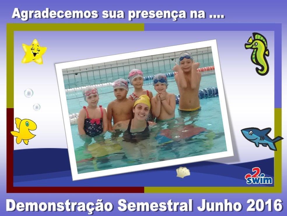 Demonstração Semestral da Academia 2Swim e a Escola Catavento