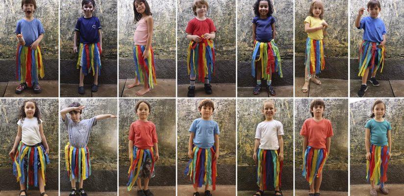 Um dia colorido: Danças Folclóricas e Festa da Família