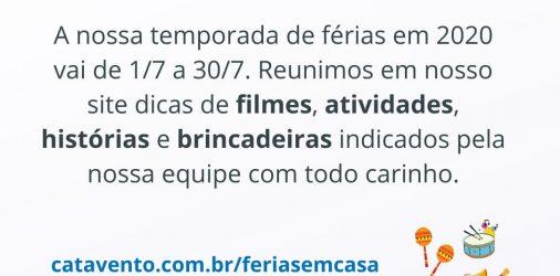 #FériasEmCasa